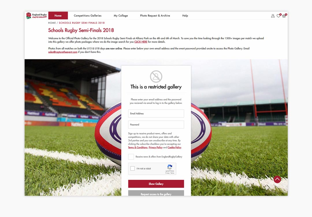 England Rugby Restricted Gallery
