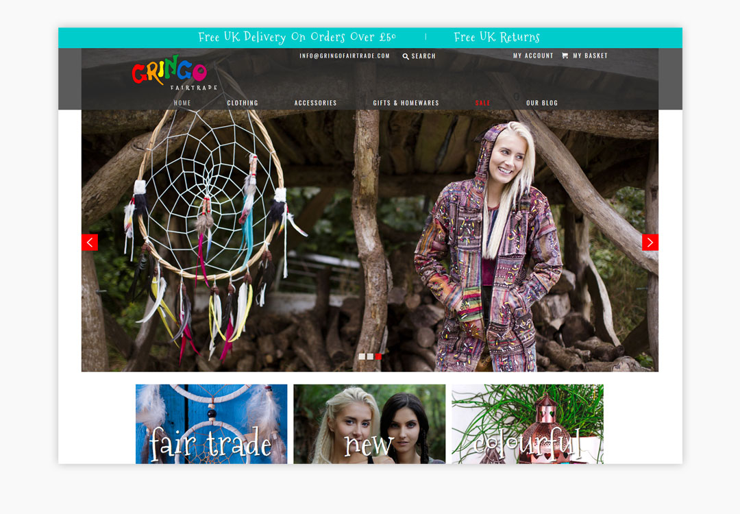 Gringo Fair Trade Homepage