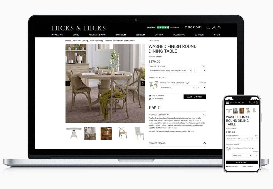 Hicks and Hicks Product Page