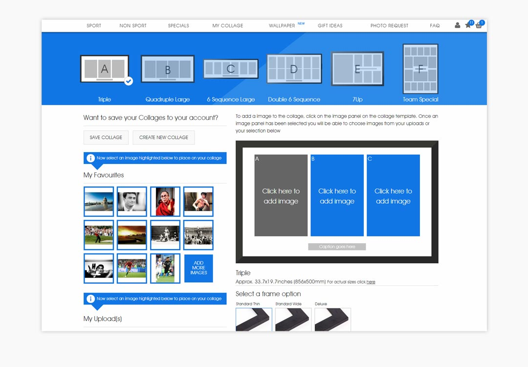 Sport Photo Gallery Collage Builder