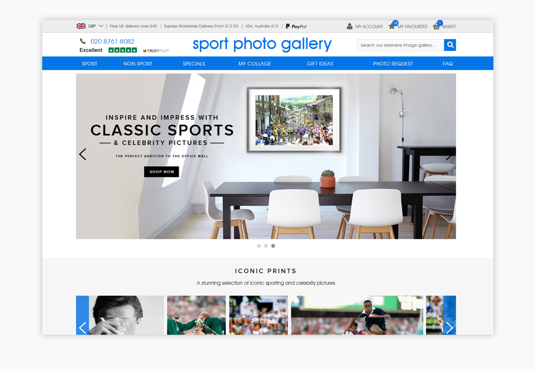 Sport Photo Gallery Homepage