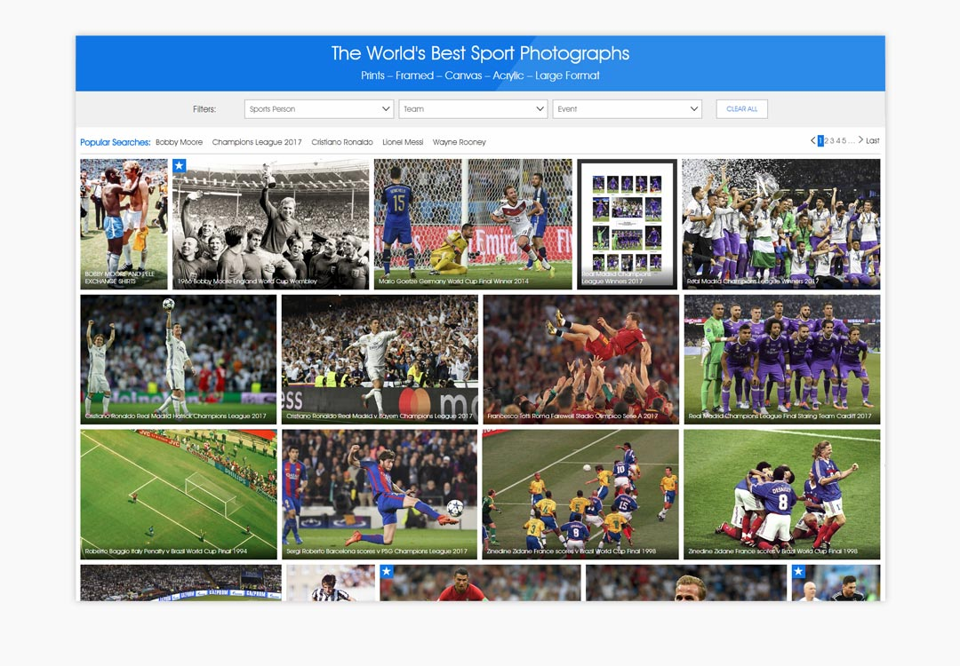Sport Photo Gallery List Page