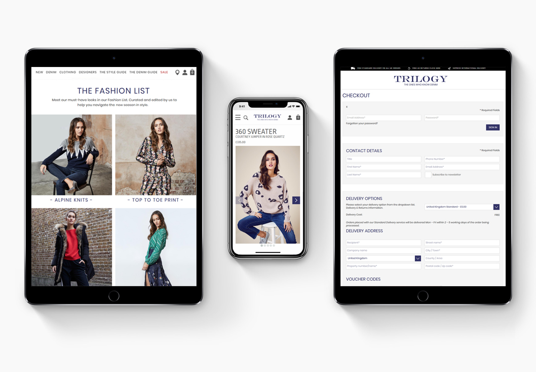 Trilogy Stores Device View